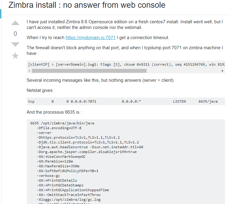 Zimbra Admin Console Not Working – [Solved]