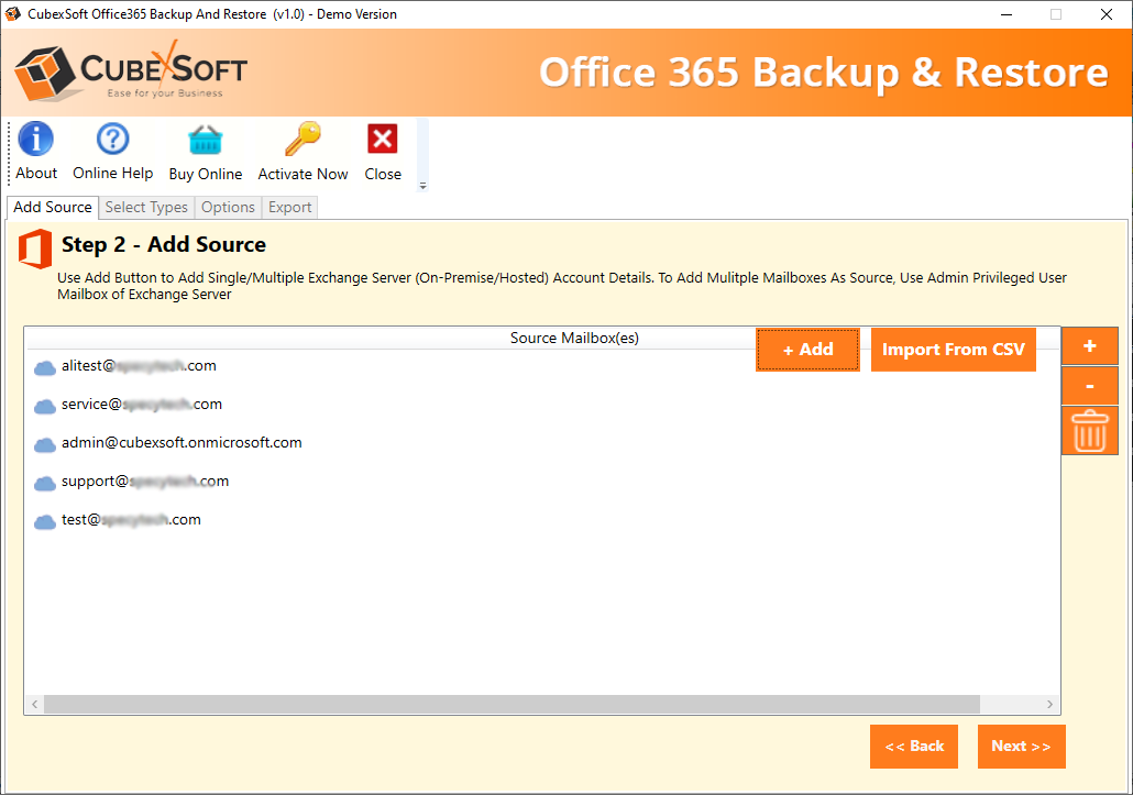CubexSoft Office 365 Backup Tool