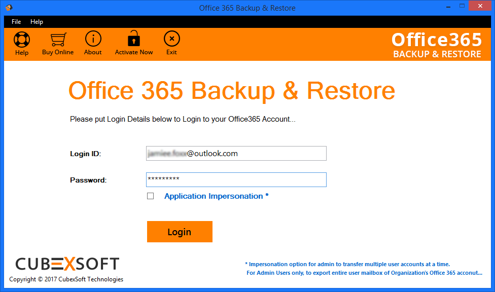 launch Office 365 Backup Tool