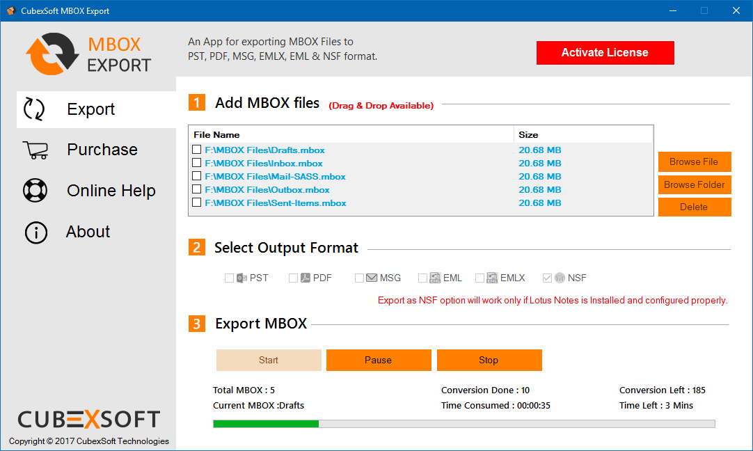 To Export MBOX files try free MBOX Mailbox Converter