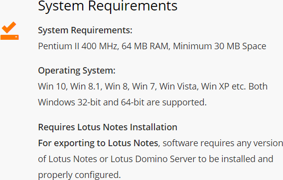 Requirements of System