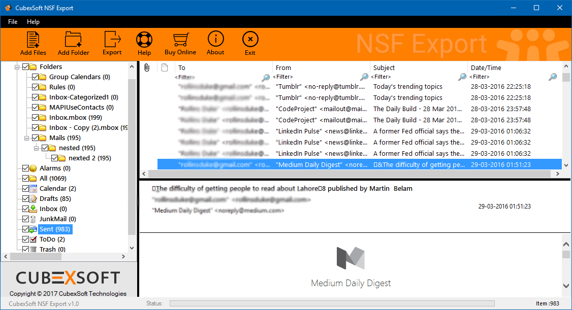 Migrate email from Lotus Notes to Outlook