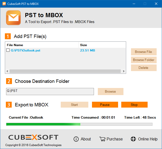 Complete Conversion Option for PST to MBOX