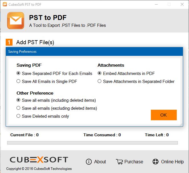 Windows 7 PST to PDF Export 1.1 full