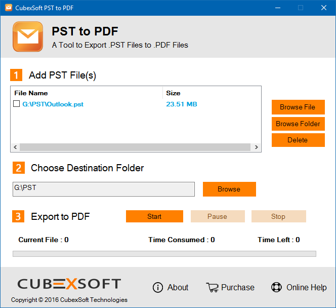 Exporting Emails from Outlook to PDF Screenshot