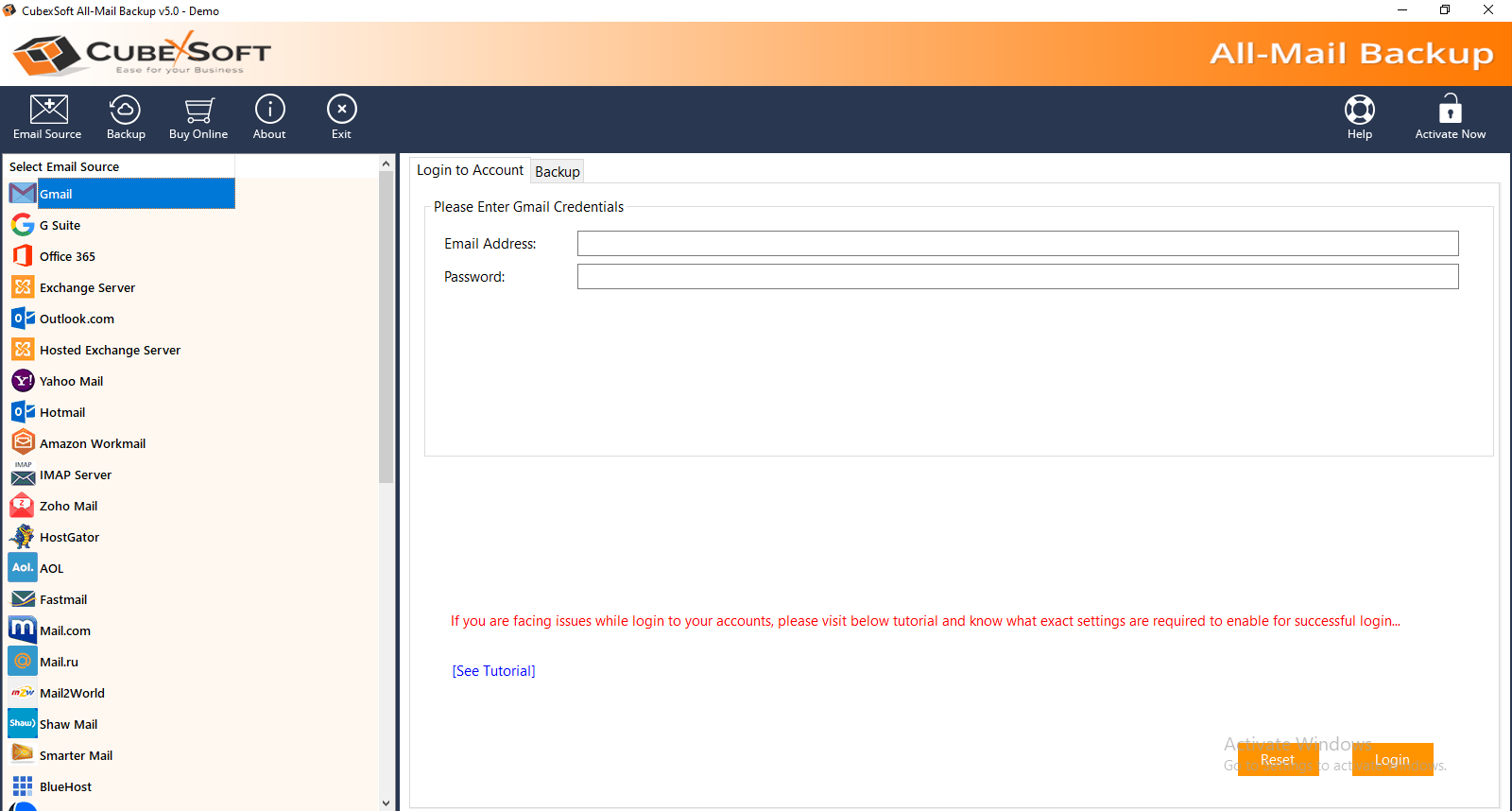 Bluehost Backup full screenshot