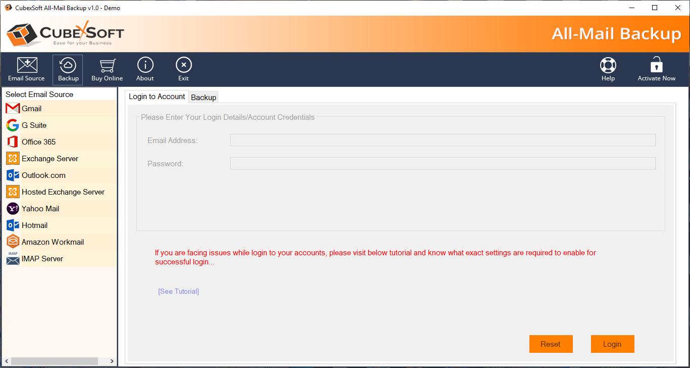 All-in-one Windstream Backup Tool full screenshot