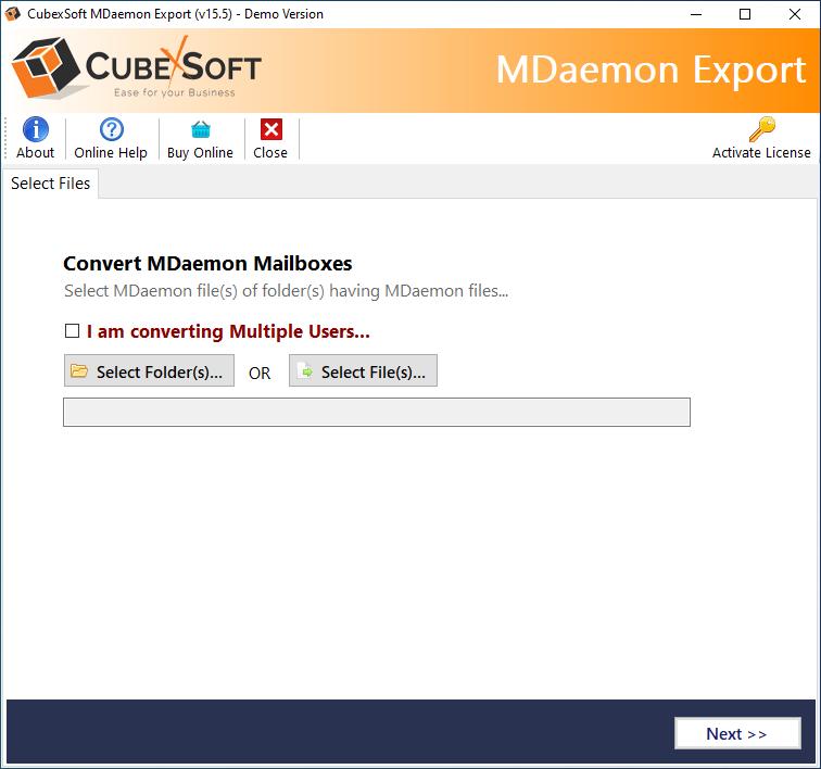 launch MDaemon Export