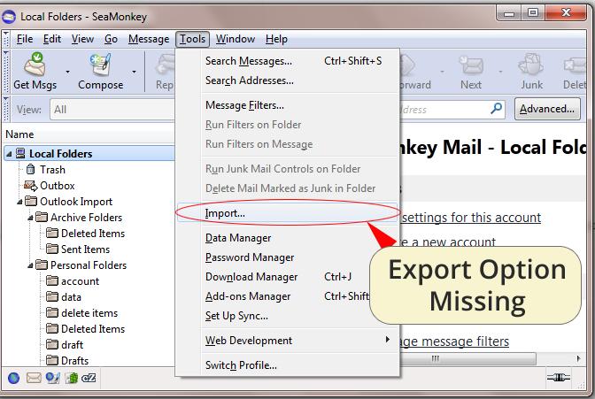 SeaMonkey to Outlook - Export SeaMonkey Mail to Outlook