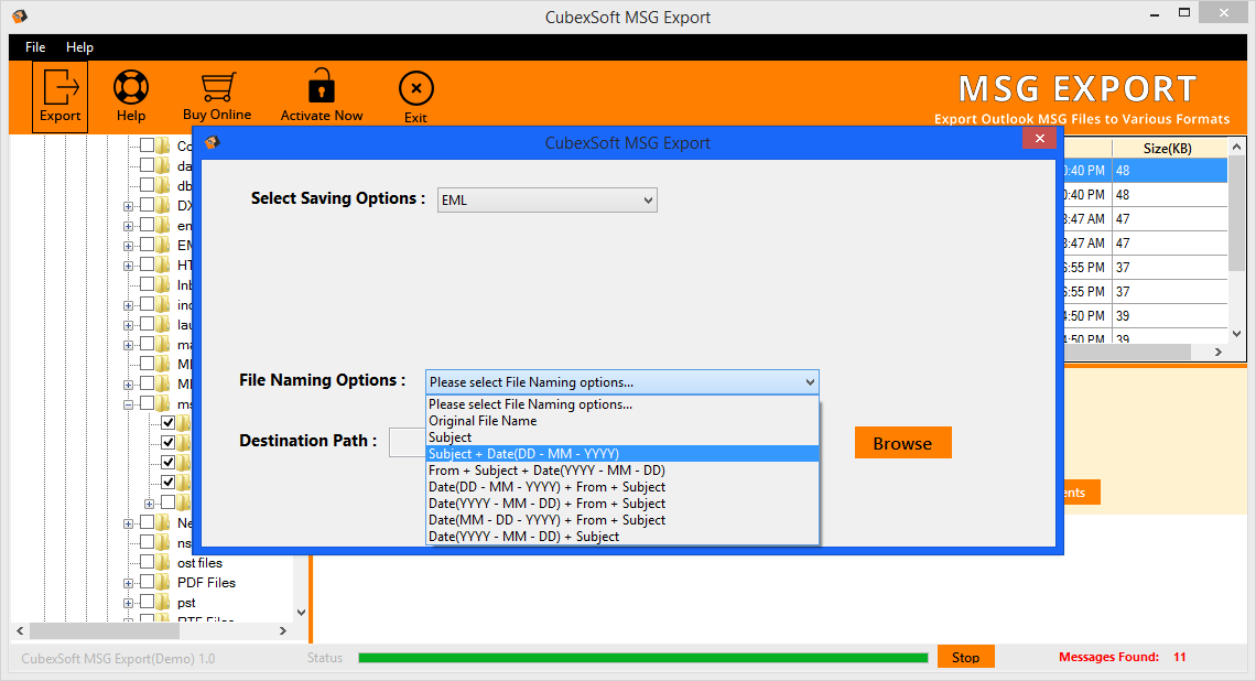 CubexSoft MSG to EML Tool